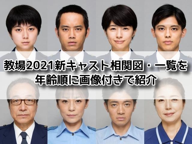 教場 新キャスト 相関図 2021 一覧 年齢順 画像