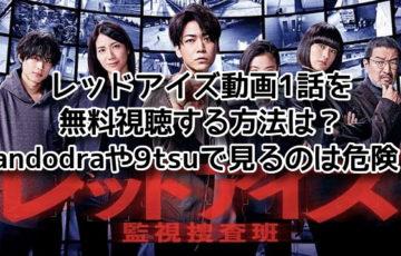 レッドアイズ 動画 pandora 1話 無料視聴 9tsu 危険