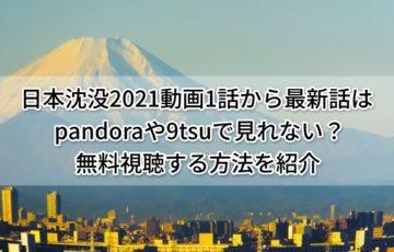 日本沈没2021動画1話から最新話はpandoraや9tsuで見れない?無料視聴する方法を紹介