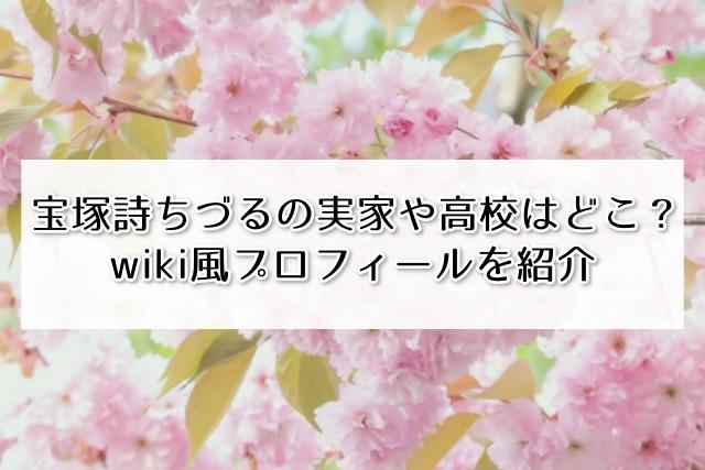 宝塚詩ちづるの実家や高校はどこ?wiki風プロフィールを紹介